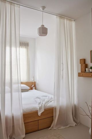 How To Create Dreamy Bedrooms Using Bed curtains View in gallery  Use breezy curtains to delimitate the bed from