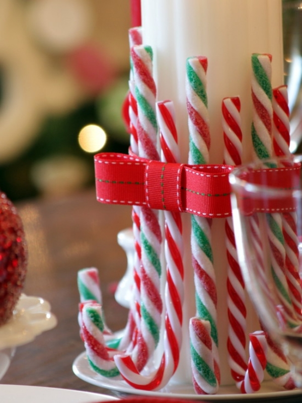 23 Christmas Party Decorations That Are Never Naughty  Always Nice Edible Candy Cane Centerpieces