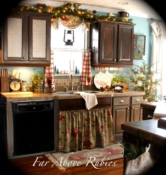 Ideas Rustic Country Kitchen Cabinets For