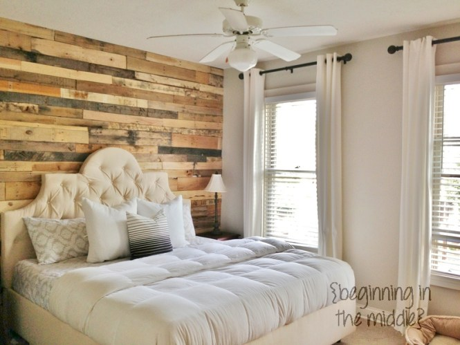 Natural Bedroom Decoration Ideas With Laminate Wood Of Ceiling And Flooring Also Granite Wall