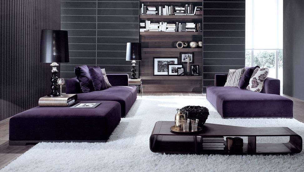 How To Match A Purple Sofa Your Living Room Décor