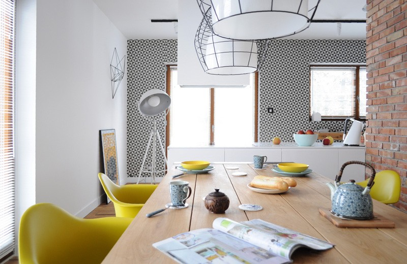 Colorful-apartment-in-Poland-view from dining-room