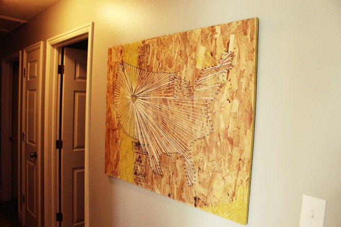 Diy Large Scale String Art World Map