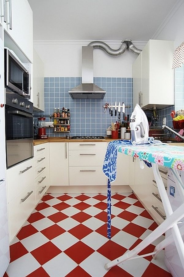 Red And White Kitchen Floor Tiles Home Decorating Trends