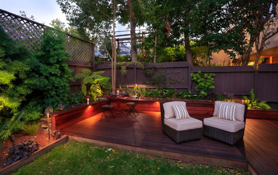 Deck Lighting Ideas That Bring Out The Beauty Of The Space on Small Yard Deck id=70264