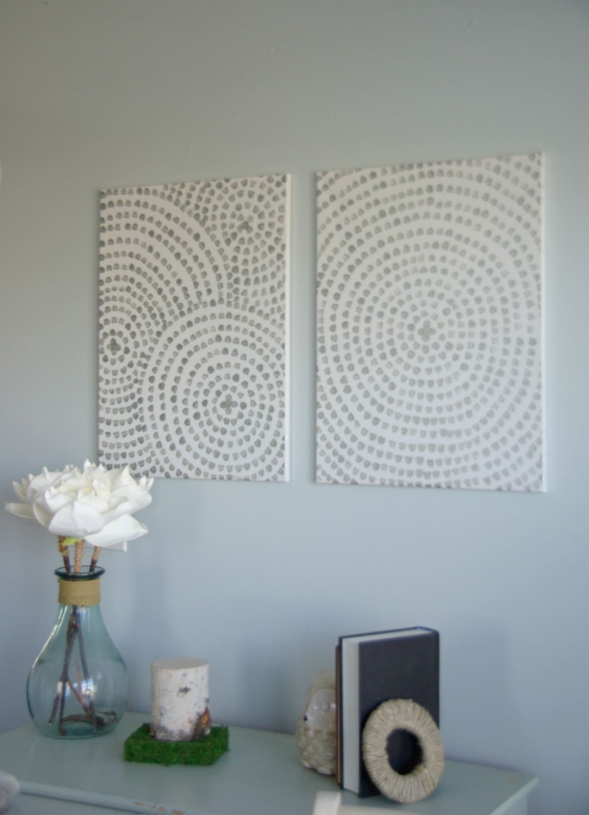 DIY Canvas Wall Art - A Low Cost Way To Add Art To Your Home on Pinterest Wall Decor  id=36261