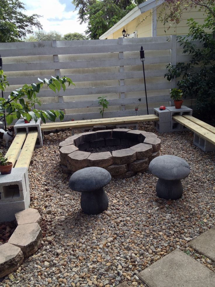 How To Use Cement Blocks In Practical Outdoor Projects on Simple Cinder Block Fireplace id=58660