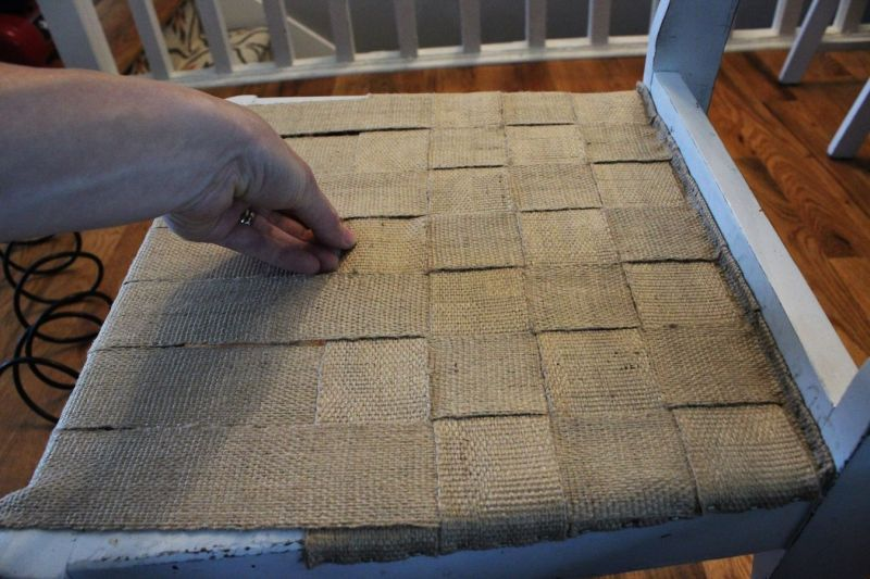 DIY Jute Chair Seat Give An Old Chair New Purpose