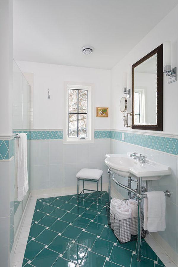 20 Functional & Stylish Bathroom Tile Ideas on Floral Tile Bathroom Ideas  id=46286