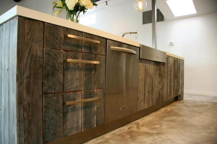 Modern Kitchen Design Pretty Reclaimed Wood Cabinet