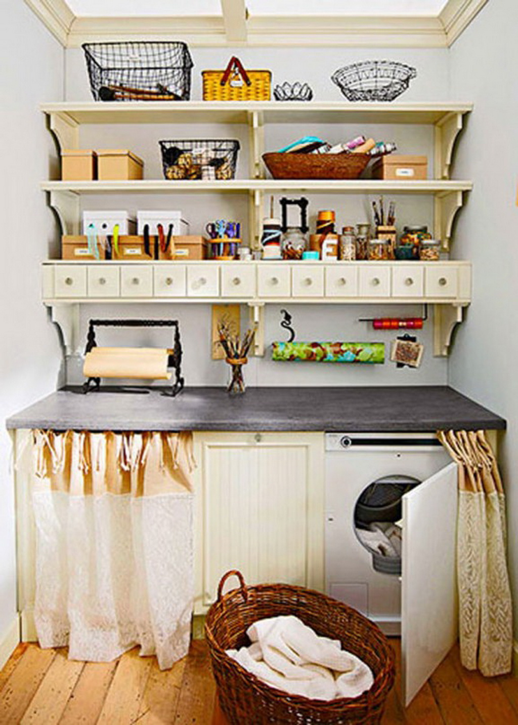 15 Tips to Creating a Laundry Room that's both Charming ... on Laundry Room Decor Ideas  id=86270