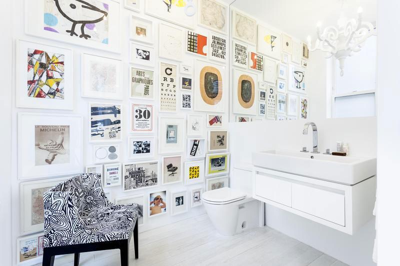Composición de cuadros para la pared