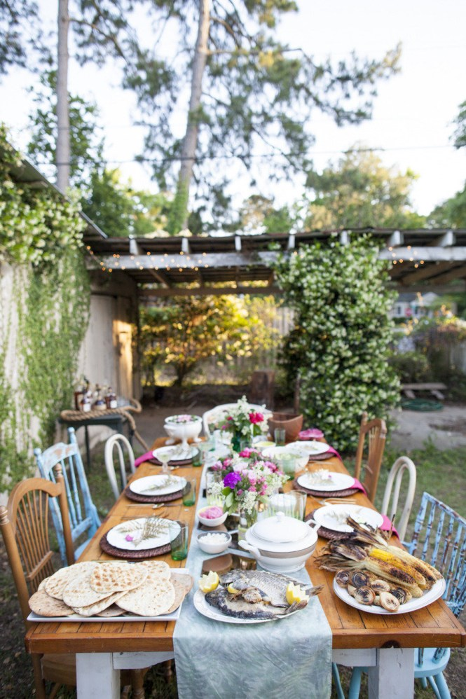 Backyard Beautiful Party Decoration Love The Rustic Design