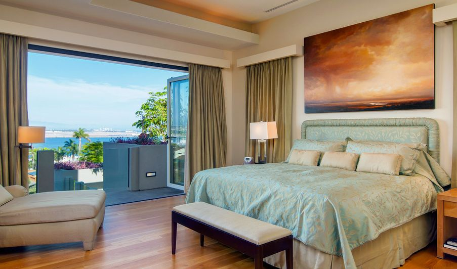 Cool bedroom view