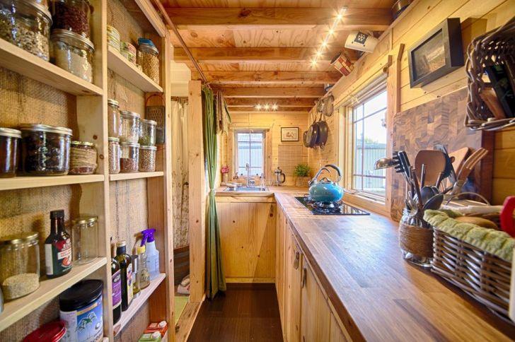 Christopher Melissa Tack Tiny House Wheels Kitchen