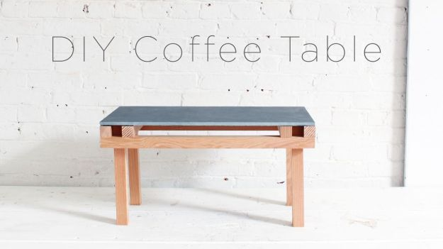 a speedy and stylish diy coffee table
