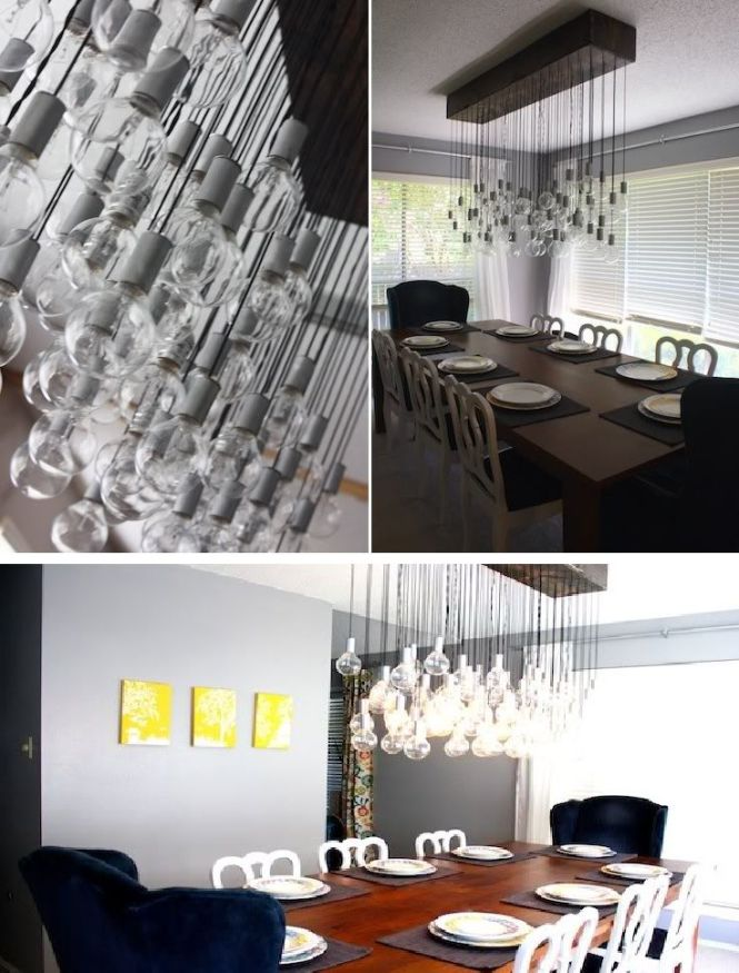 Hanging Light Bulbs Chandelier
