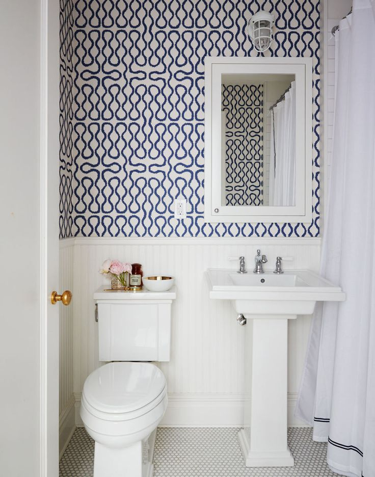 10 Tips for Rocking Bathroom Wallpaper fun patterned wallpaper