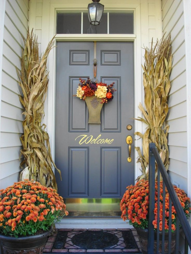 porch corn stalks