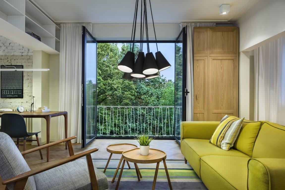 Apartment H01 living room balcony