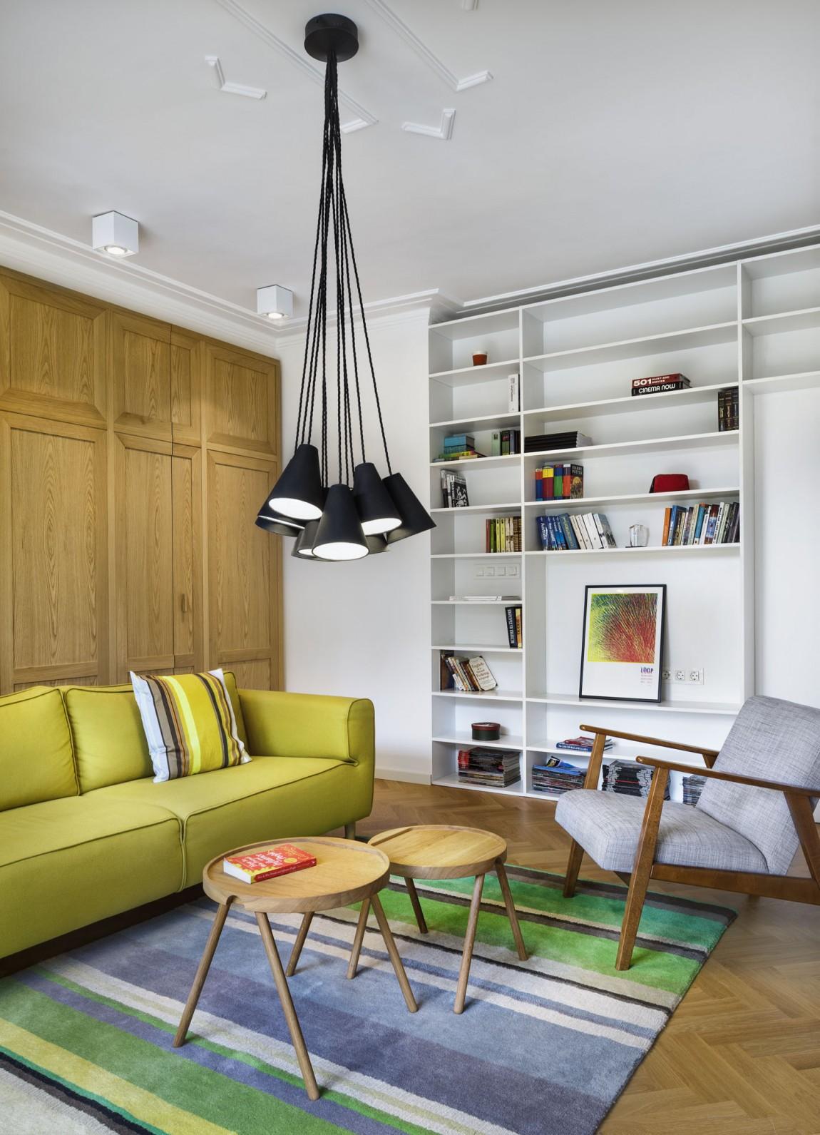 Apartment H01 living room bookcase