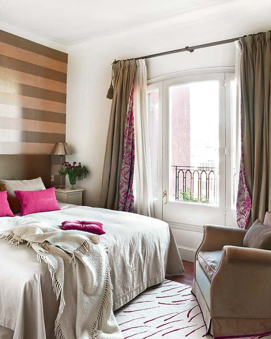 Relaxed bedroom with taupe design