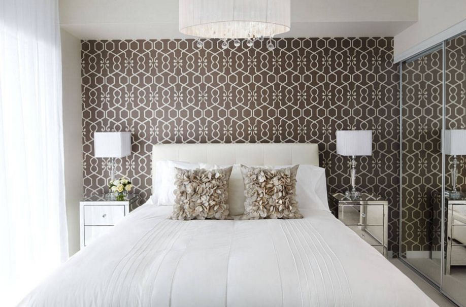 20 Ways Bedroom Wallpaper Can Transform the Space Feminine bedroom design with a brown wallpaper