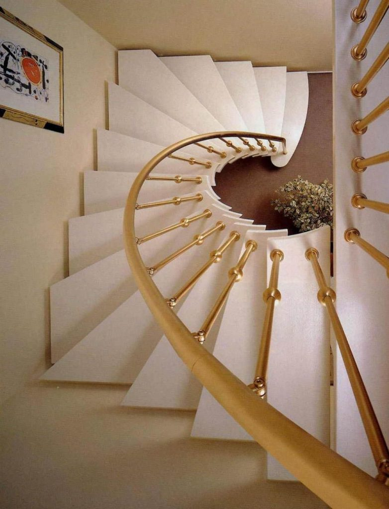 Gold Spiral Staircase Railing Home Decorating Trends
