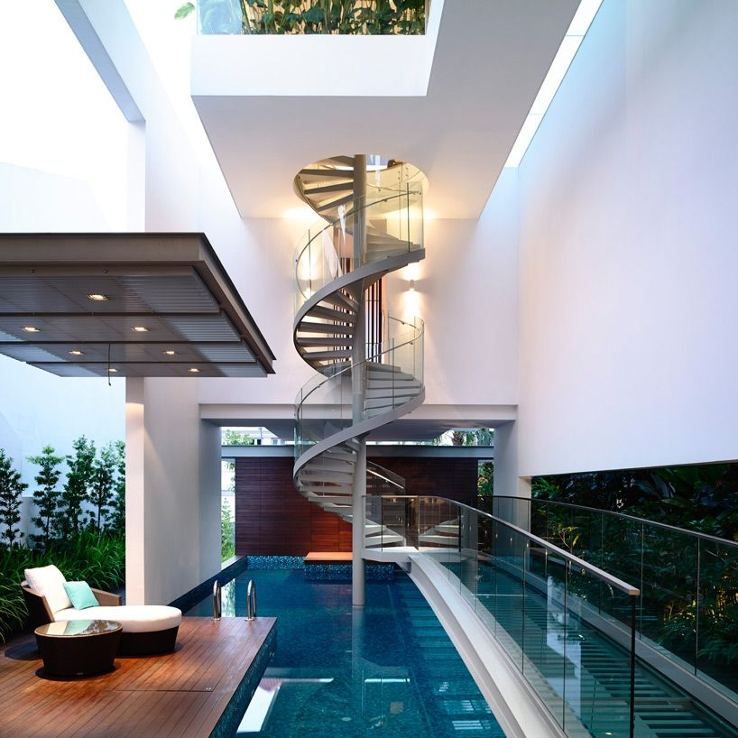 40 Breathtaking Spiral Staircases To Dream About Having In Your Home | Spiral Staircase Into Loft | Loft Conversion | Small Spaces | Tiny House | Space Saving | Staircase Design