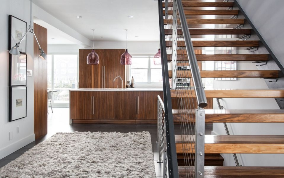 10 Standout Stair Railings And Why They Work | Modern Cable Stair Railing | Entry Foyer | Staircase Remodel | Stair Treads | Glass Railing | Deck Railing