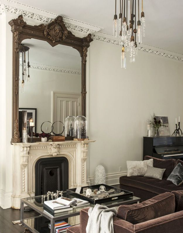 Decorative Mirrors Living Room Brown Mirror Placement For Decorating