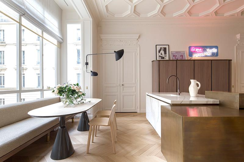 Rodolphe Parente Kitchen design with copper accents