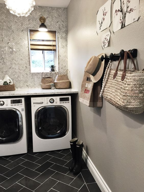 20 ultra modern laundry rooms that fit into the most on paint for laundry room floor ideas images id=42362