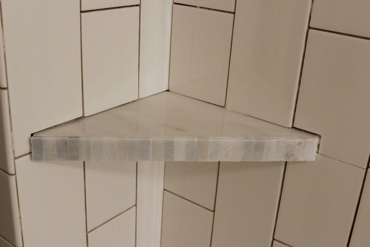 How to Install a Tile Shower Corner Shelf on Bathroom Corner Shelf  id=80771