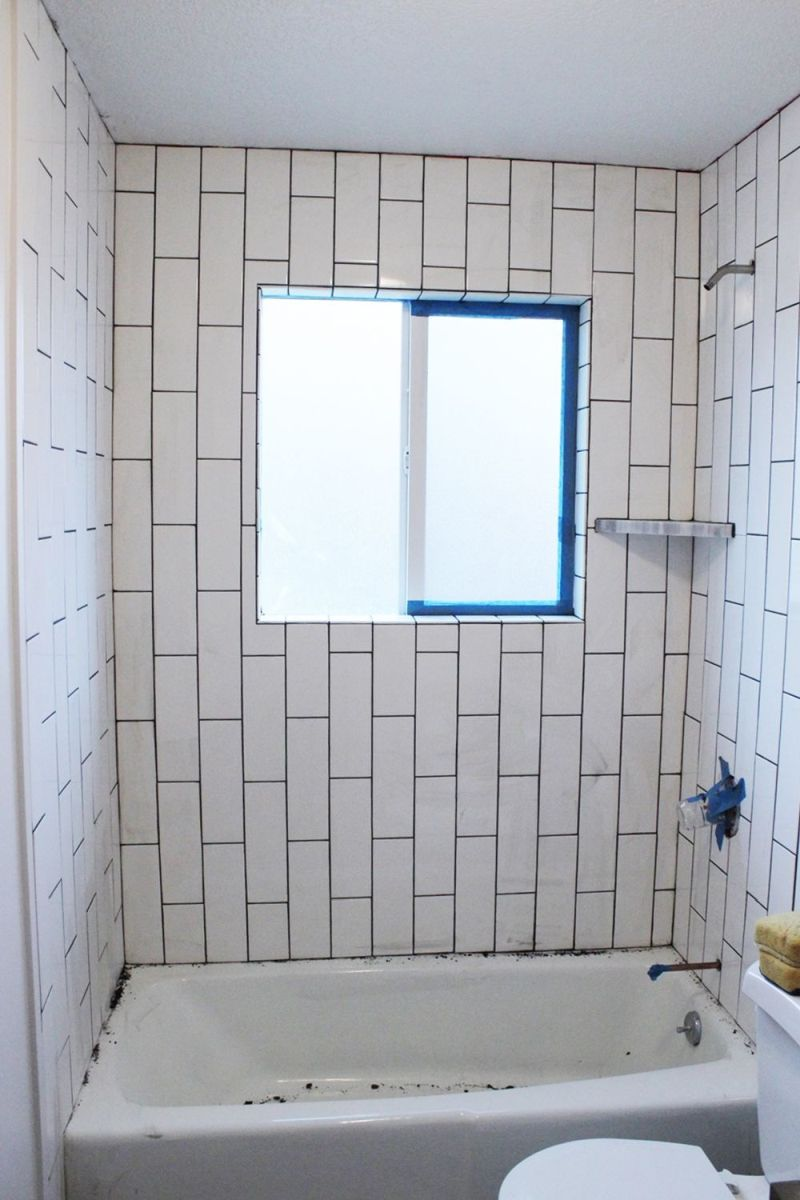 how to tile a shower tub surround part