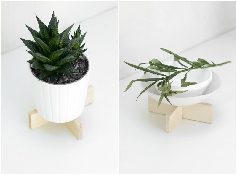 DIY Handy Wooden Stand Pot