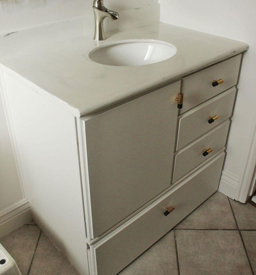 DIY Upgrade Bathroom Vanity Project