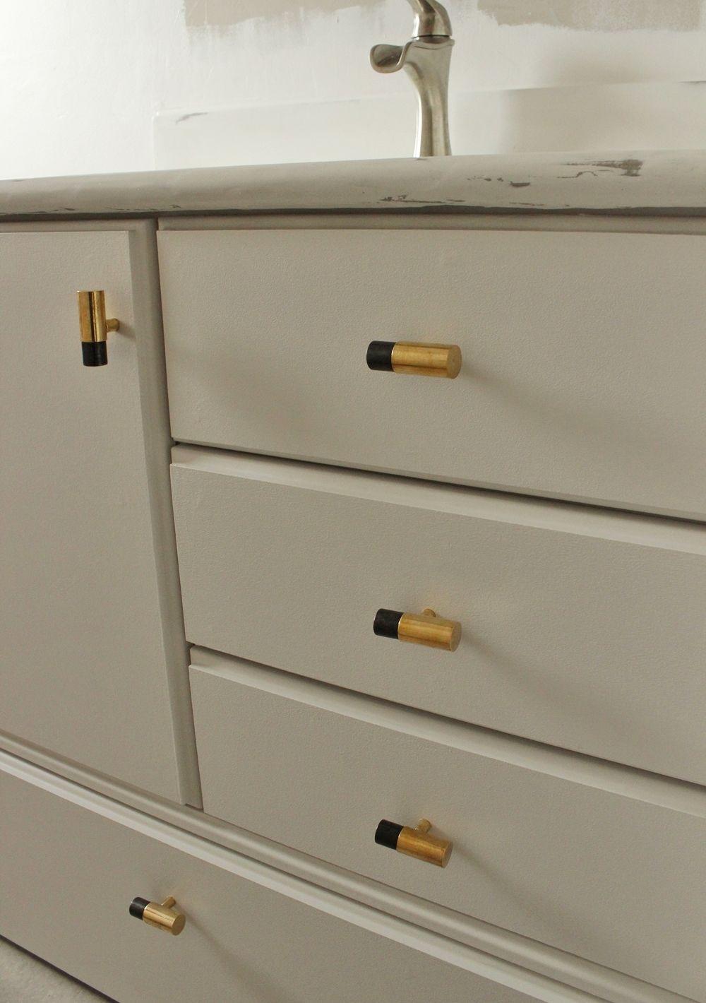 DIY Upgrade Bathroom Vanity -elbow