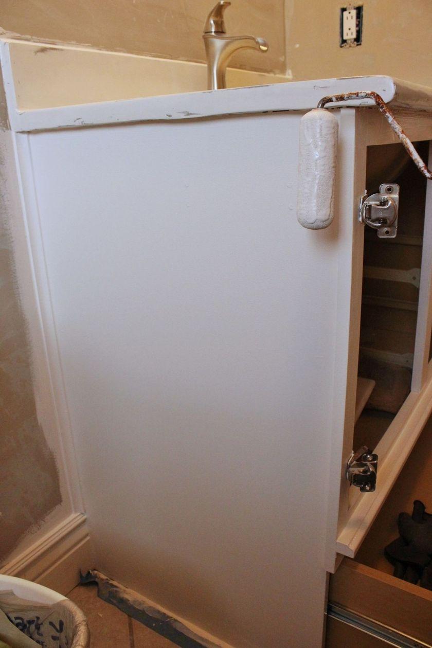 DIY Upgrade Bathroom Vanity- vanity sides