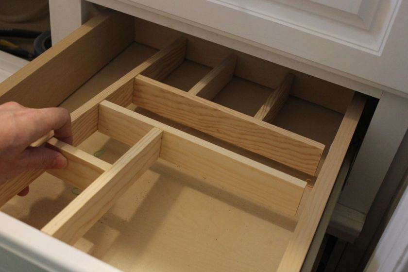 Empty out the cabinets and drawers