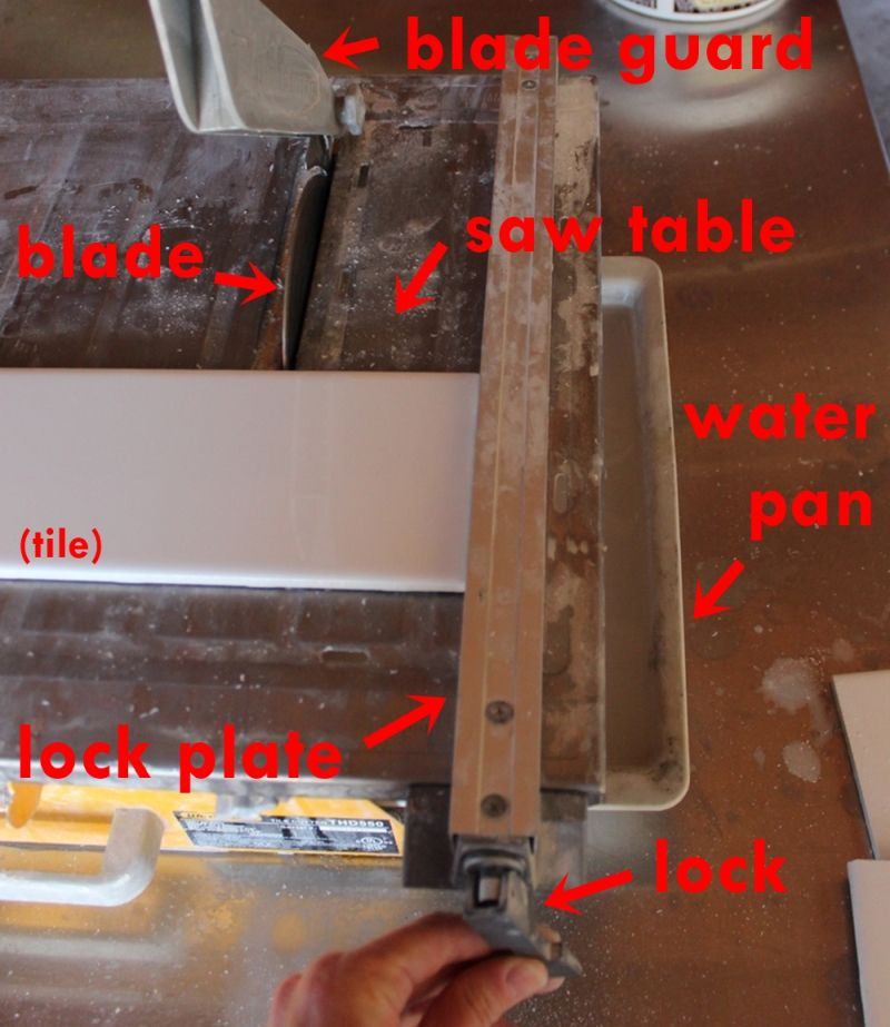 how to use a wet tile saw a beginner s