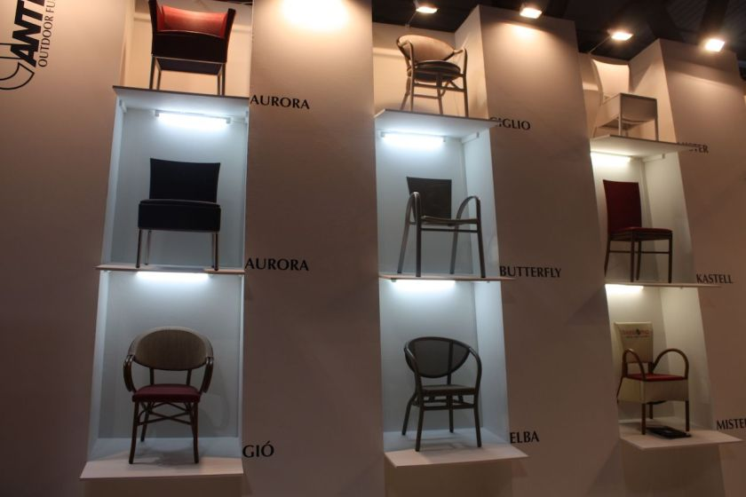 Antiga of Italy has a wide variety of dining chairs for outdoor and indoor use. The company can customize designs to customer specifications.