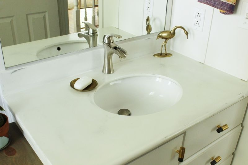 Bathroom countertop makeover