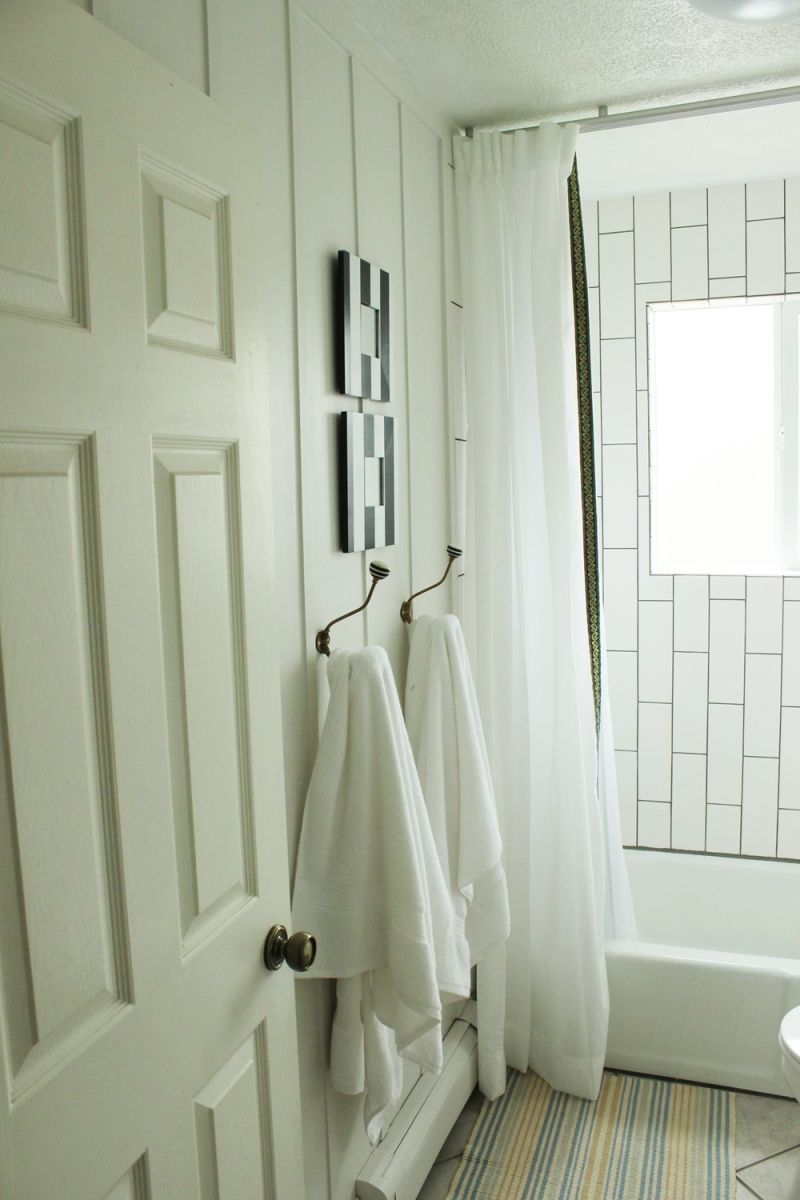 Bathroom makeover project DIY