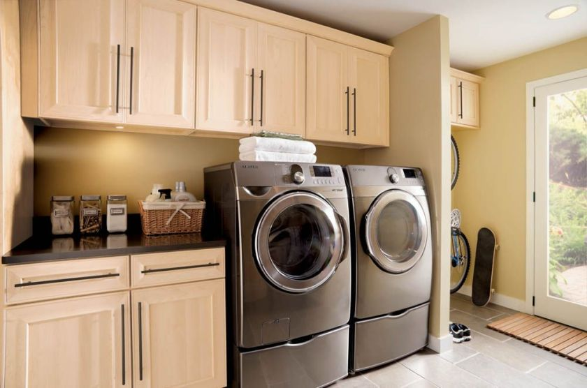 Camel laundry room design