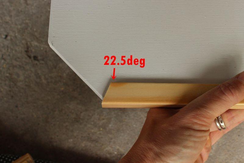 DIY Above Door Shelf Cut