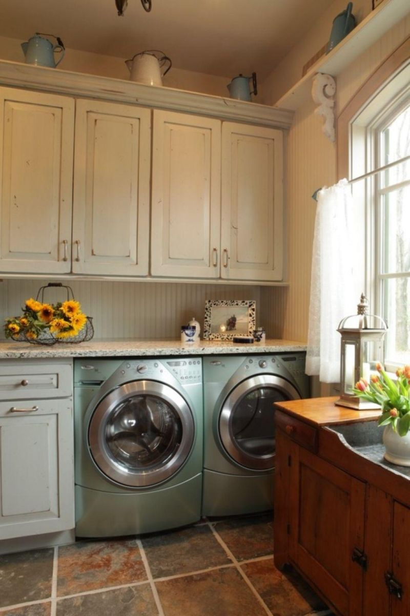 40 Laundry Room Cabinets To Make This House Chore So Much ... on Laundry Cabinets Ideas  id=90936