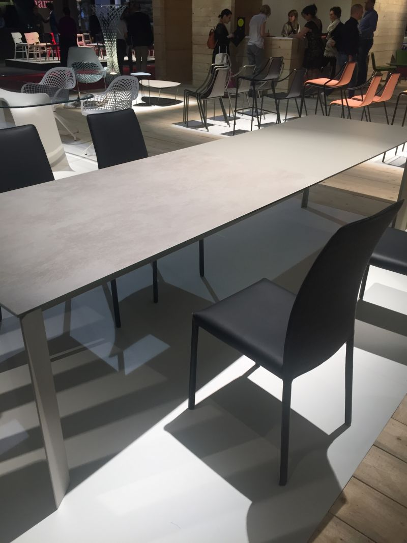 Large dining table with an unusual shape