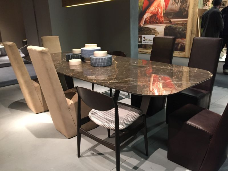 Marble table with diff chairs