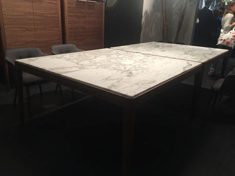 Rectangular marble on top dining table